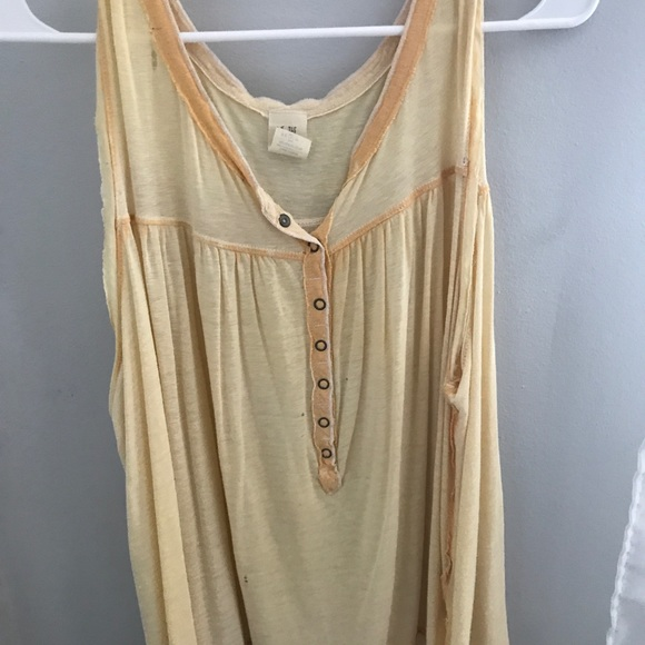 Free People Tops - Yellow Flowy Blouse